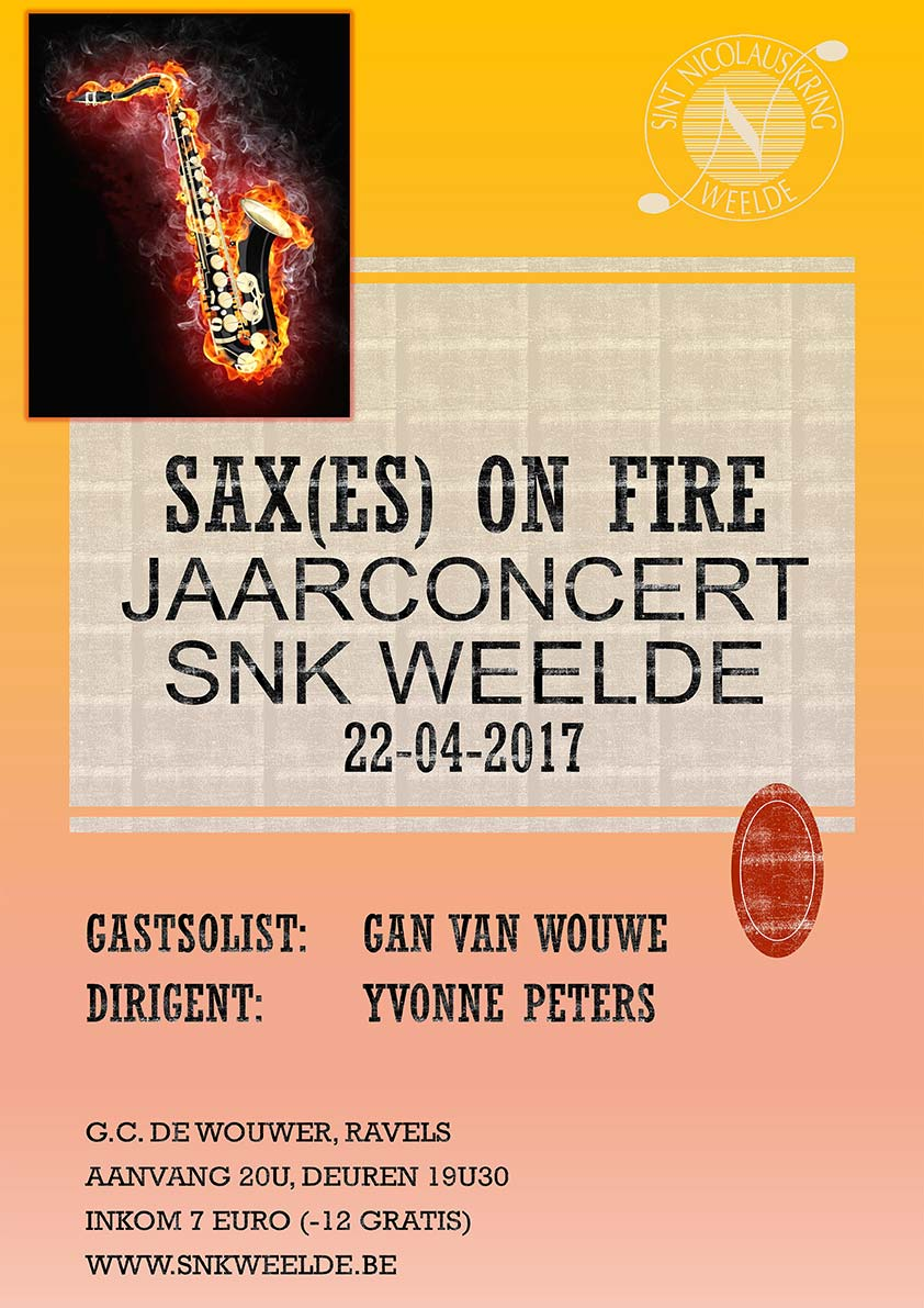 Jaarconcert SNK - Saxes on Fire